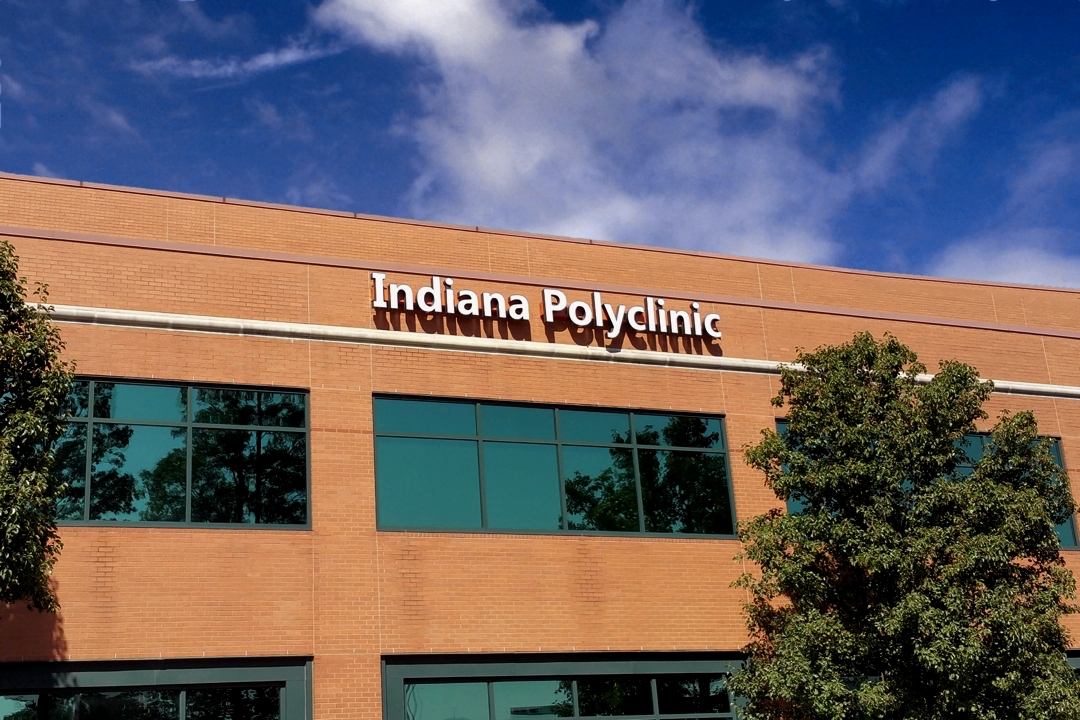 Indiana Polyclinic as viewed from I-465